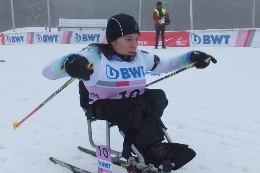 Wintersportlerin Anja Wicker beim Weltcup in Oberried